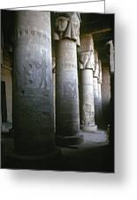 Egypt: Temple Of Hathor Greeting Card
