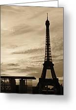 Eiffel At Sunset Greeting Card