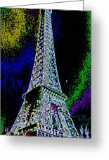 Eiffel Greeting Card by David Alvarez