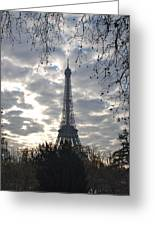 Eiffel In The Morning Greeting Card
