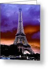 Eiffel Storm Greeting Card