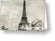 Eiffel Tower, 1900 Greeting Card