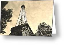 Eiffel Tower At Dusk Greeting Card