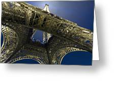 Eiffel Tower At Night,directly Below Greeting Card