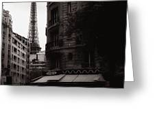 Eiffel Tower Black And White 2 Greeting Card