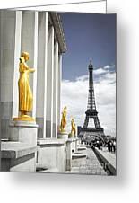 Eiffel Tower From Trocadero Greeting Card by Elena Elisseeva