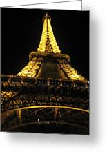 Eiffel Tower In Lights Greeting Card