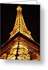 Eiffel Tower Las Vegas Greeting Card