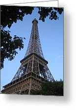 Eiffel Tower Through The Trees Greeting Card