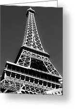 Eiffel Tower Vegas Style Greeting Card by Leslie Leda