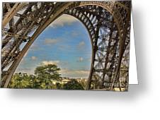 Eiffet Tower Up Close Greeting Card
