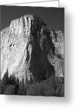El Cap Face On Greeting Card