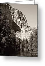 El Capitan Meets The River Greeting Card