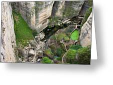 El Tayo River Gorge In Ronda Greeting Card