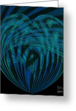 Electric Blue Heart Greeting Card