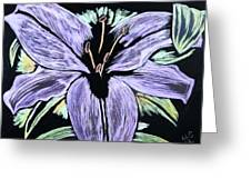 Electric Lily Phase Two Greeting Card