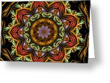 Electric Mandala 2 Greeting Card