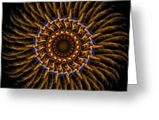 Electric Mandala 3 Greeting Card