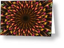 Electric Mandala 4 Greeting Card