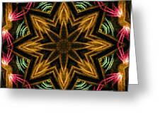 Electric Mandala 7 Greeting Card