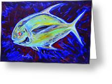 Electric Pompano Greeting Card