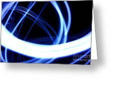 Electric Swirl Greeting Card