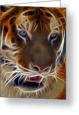 Electric Tiger Greeting Card