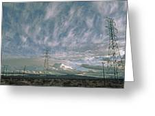 Electric Transmission Lines Greeting Card