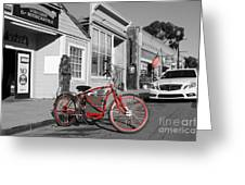 Electric Vehicle . Peddle Power . Infinite Miles To The Gallon . 7d12729 Greeting Card