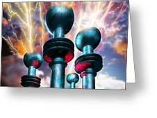 Electrical Generators Greeting Card by Victor Habbick Visions
