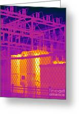 Electrical Substation Greeting Card