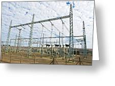 Electricity Substation Greeting Card