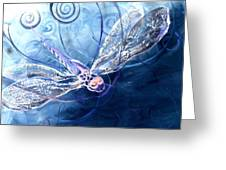 Electrified Dragonfly Greeting Card