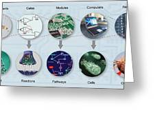 Electronic And Biologic Systems, Artwork Greeting Card by Equinox Graphics