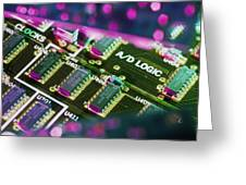 Electronic Circuit Board From A Computer Greeting Card
