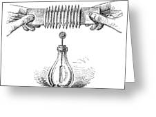 Electroscope Experiment, 19th Century Greeting Card
