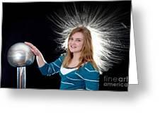 Electrostatic Generator, 7 Of 8 Greeting Card