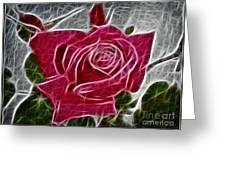Electrostatic Rose Greeting Card