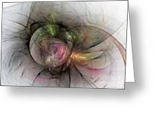 Elegant Beauty - Abstract Art Greeting Card