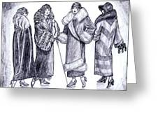 Elegant Coats Greeting Card