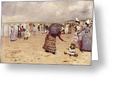 Elegant Figures On A Beach Greeting Card