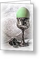 Elegant Green Easter  Greeting Card