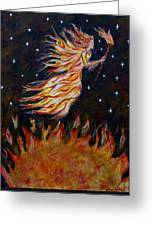 Elemental Earth Angel Of Fire Greeting Card