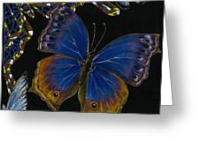 Elena Yakubovich - Butterfly 2x2 Lower Right Corner Greeting Card