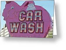 Elephant Car Wash Greeting Card