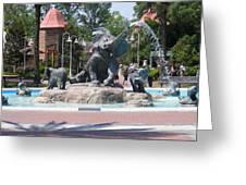Elephant Fountain Greeting Card