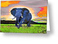 Elephantidae Diurnal Greeting Card