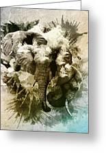 Elephants Gone Wild Greeting Card