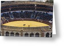 Elevated View Of Bullring Greeting Card by Axiom Photographic