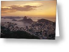 Elevated View Of Rio De Janeiro Greeting Card